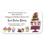 Adorable and Fun Sweet Paradise Professional Bakery Business Cards
