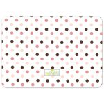 Pink and Brown Polka Dot Cupcake First Birthday Party Invitation