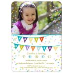 Colorful Confetti and Birthday Flags Party Invitation