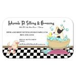 Cute Poodle and Dog in Bathtub Grooming and Pet Sitting Business Card