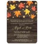 Housewarming Invitations - Falling Leaves with Gold Autumn