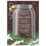 Housewarming Invitations - Winter Mason Jar Pine Boughs