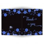 Star of David Blue Bokeh Lights Bar Mitzvah Thank You Card