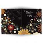 Retro Inspired Floral Bat Mitzvah Thank You Card