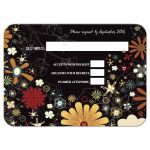 Retro Inspired Floral Bat Mitzvah Response Card