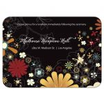 Retro Inspired Floral Bat Mitzvah Reception Card