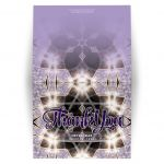 Lilac Sparkle Star of David Thank You Card