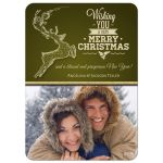 Fancy Reindeer Premium Photo Christmas Card