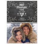 Vintage Chalkboard Snowflakes Holiday Photo Card