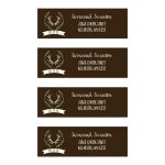 Deer Antler Wedding Return Address Mailing Labels