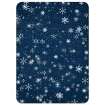 Best midnight blue, white, silver glitter and snowflakes wedding shower, bridal shower, or couples shower invite with navy blue scroll.
