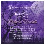 Halloween Bridal Shower Invitation