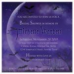 Super Full Moon Halloween Gothic Bridal Shower