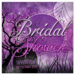 Fuchsia Pink Gothic Halloween Bridal Shower