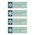 Mailing Labels - Winter Simple Snowflake