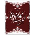 Red+White Lace Frills Bridal Shower Invitation