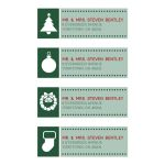 Mailing Labels - Christmas Simple Green Icons
