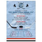 Bar Mitzvah Invitation - Ice Hockey Rink