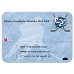 Bar Mitzvah Reply RSVP Card - Ice Hockey Player