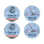 Bar Mitzvah Thank You Stickers - Ice Hockey Player