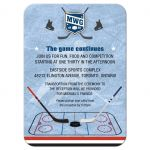 Bar Mitzvah Reception Enclosure Card - Ice Hockey Player