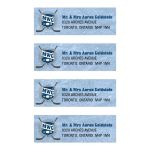 Bar Mitzvah Mailing Labels - Ice Hockey Sports Monogram