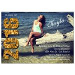 Modern Gold Glittery Typography Photo Graduation Invitation