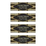 Gold Black Glamour Art Deco Address Labels