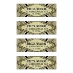 Light Gold Glamour Art Deco Address Labels
