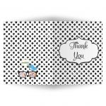 Polka Dot Bat Mitzvah Social Media Scavenger Hunt Thank You Card