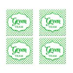 Green Team Polka Dot Bat Mitzvah Social Media Scavenger Hunt Sticker