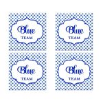 Blue Team Polka Dot Bat Mitzvah Social Media Scavenger Hunt Sticker