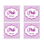 Pink Team Polka Dot Bat Mitzvah Social Media Scavenger Hunt Sticker