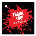 Red Paintball Party Bar Mitzvah Gift Favor Tag