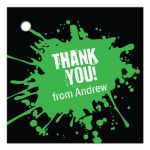 Green Paintball Party Bar Mitzvah Gift Favor Tag