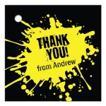 Yellow Paintball Party Bar Mitzvah Gift Favor Tag