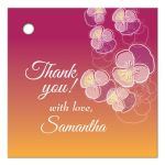 Pink to Gold Ombre Floral Falling Pansy Gift/Favor Tag