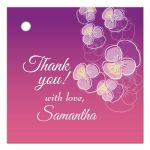 Purple to Pink Ombre Floral Falling Pansy Gift/Favor Tag