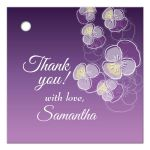 Purple Ombre Floral Falling Pansy Gift/Favor Tag
