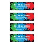Paintball Party Bar Mitzvah Mailing Labels