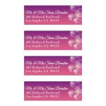 Purple to Pink Ombre Floral Falling Pansy Mailing Labels