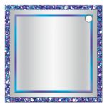 """Best personalized 2"""" round purple, turquoise and silver grey Bat Mitzvah party favor gift tag with ribbon, bow, glitter, and Jewish Star."""