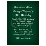 Elegant Masculine Green Birthday Invitation
