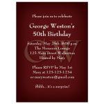 Elegant Monogram Burgundy Birthday Party Invitation
