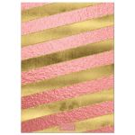 Great rose gold foil and gold glitter striped bridal shower, wedding shower or couples shower invite.