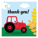 Thank you favor tag for farm themed birthday parties