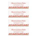 Salmon pink floral watercolor stripes address labels