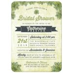 Succulents Bridal Shower Invitations front