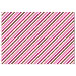 brown and pink diagonal stripes, back of cute girl stationery cards