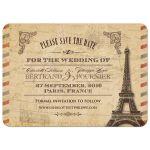 Vintage Antique Parisian Wedding Save the Date